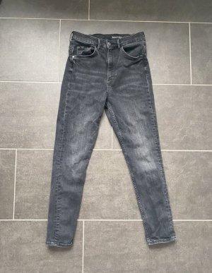 Schwarze / dunkelgraue Shaping Jeans