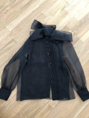 Schwarze Durchsichtige Bluse