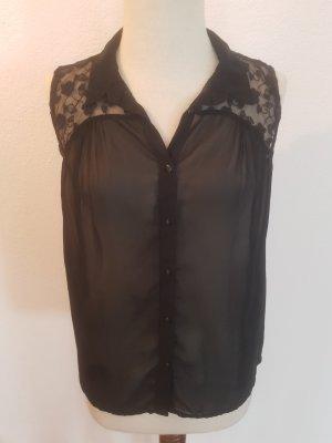 schwarze durchsichtige Bluse von Vero Moda