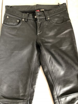 H&M Divided Pantalone in pelle nero