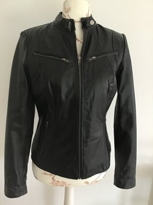 Aim Leather Jacket black leather