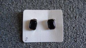 Orecchino a clip nero-argento