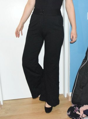 Benetton Jersey Pants black mixture fibre