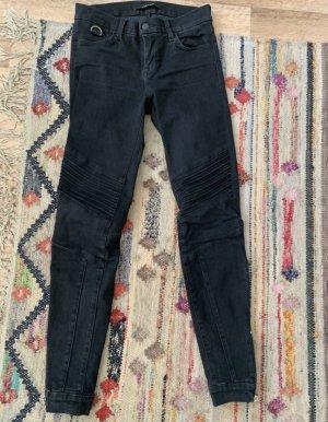 Schwarze enge Biker Jeans von J Brand