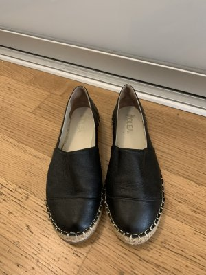 Schwarze espadrilles aus Leder von olea, Größe 38. 1x getragen, neuwertig