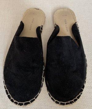 Schwarze Espadrilles