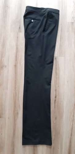 Schwarze extralange Stoffhose 34