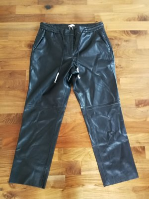 Tom Tailor Leather Trousers black