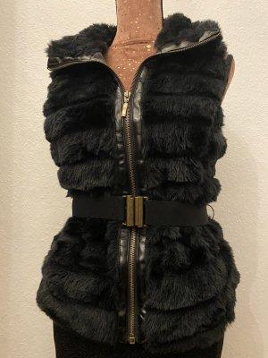 Orsay Smanicato di pelliccia nero-oro