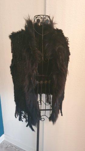 unknown Fur vest black