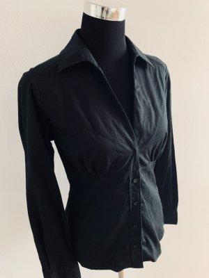 Schwarze Figur(Brust) -betonte Bluse Größe L
