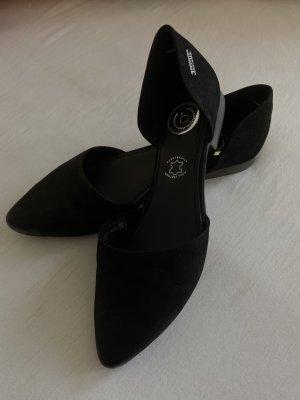 schwarze flache Bugatti Ballerinas