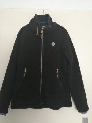 Schwarze flauschige Jacke