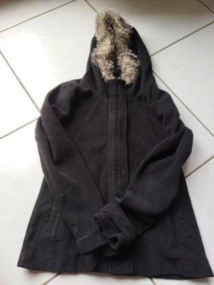 schwarze Fleece Jacke von Bench Gr. M(38)
