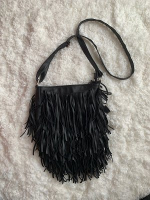 Atmosphere Fringed Bag black-silver-colored