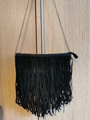 H&M Sac à franges noir-doré