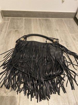 Schwarze Franzen Tasche