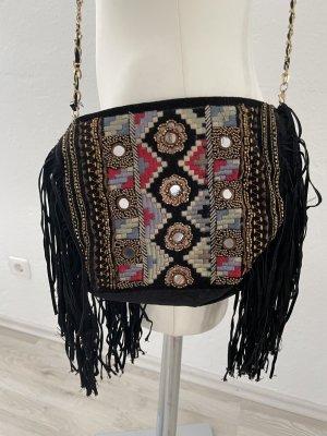 Schwarze Franzen Tasche Orientalisch