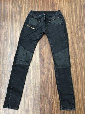 gang jeans pantalón de cintura baja negro