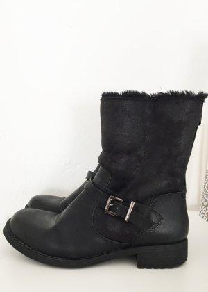 Juliet Winter Booties black mixture fibre