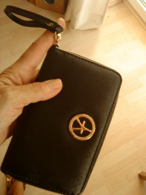 Atmosphere Wallet black-gold-colored