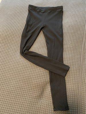Schwarze, gerippte Leggings