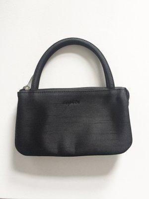 Schwarze glänzende Minitasche von esprit Vintage 2000er