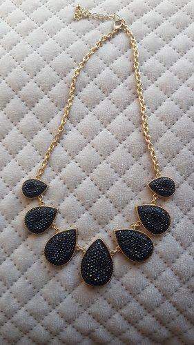 Schwarze glitzernde Halskette
