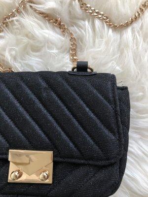schwarze glitzernde kleine Tasche