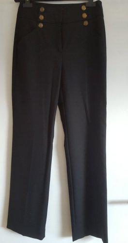 Hallhuber Pantalon en jersey noir laine