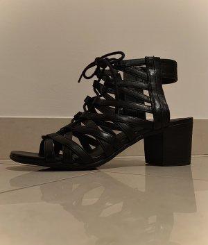 Graceland Plateauzool Sandalen met Hoge Hakken zwart