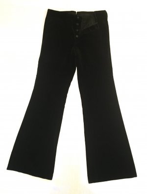 Gucci Pantalone a zampa d'elefante nero Cotone