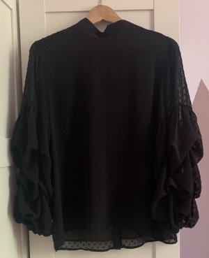 H&M Transparent Blouse black