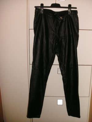 H&M Leren broek zwart Imitatie leer