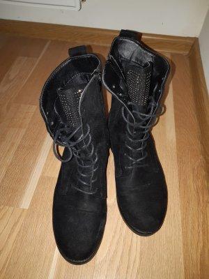 New Yorker Halfhoge laarzen zwart