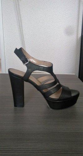Hallhuber Platform High-Heeled Sandal black