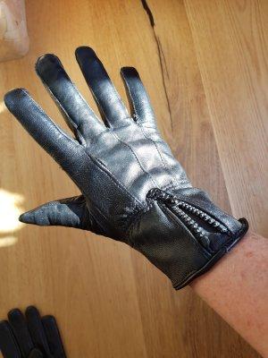 Ohne Rękawiczki z imitacji skóry czarny