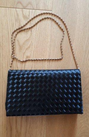 Schwarze Handtasche Abendtasche mit Träger oder Clutch