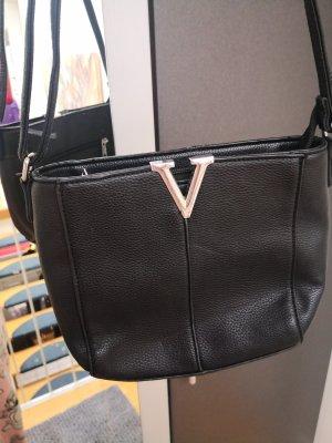 Schwarze Handtasche Lederimmitat