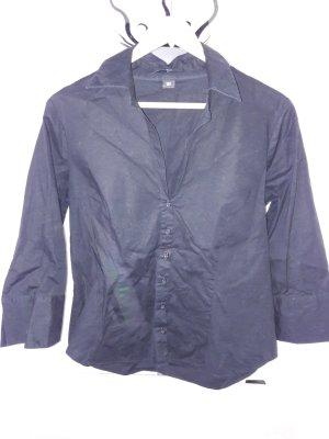 Schwarze Hemdbluse