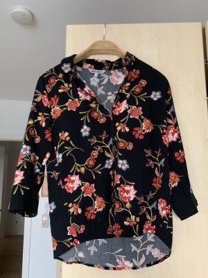 Schwarze Herbst Bluse mit Blumenmuster Garcia 34