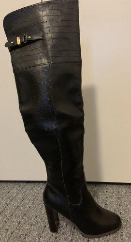 Just Fab Botas de tacón alto negro