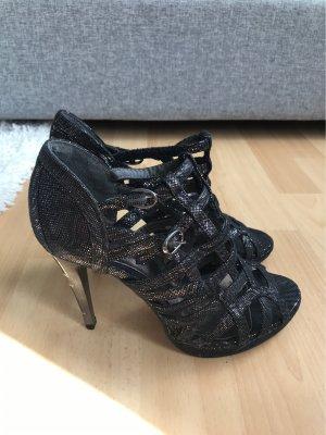 Schwarze high heels 10cm glitzer