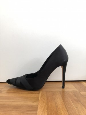 Dune Pointed Toe Pumps black mixture fibre