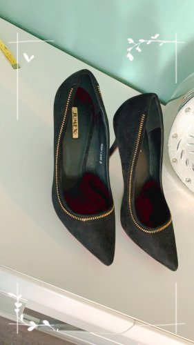 Jumex High Heels black-gold-colored