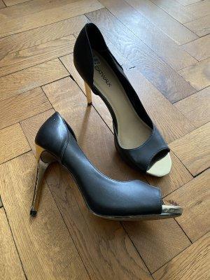 Catwalk High Heels black-gold-colored