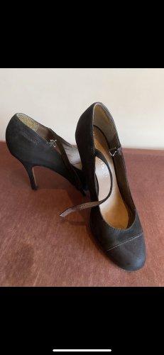 Schwarze High Heels mit Schleife und Plateau ingr40