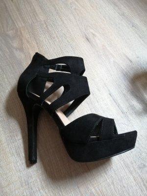 Buty na platformie czarny