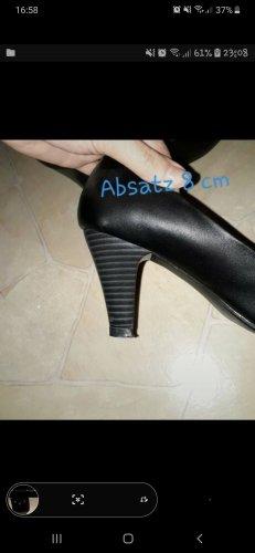 schwarze high heels pumps