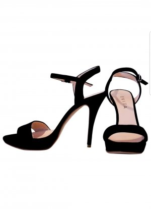 ❤ Schwarze High Heels / Pumps / Sandalette / Sandalen / 100% Leder / Klassische / Schuhe von Evita